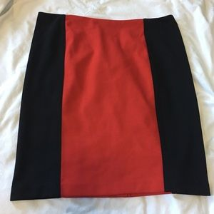 MICHAEL Michael Kors Red and Black Mini Skirt